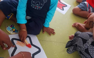 Creative Painting Ideas for Kids at TRINS ELC - Best Preschools in Trivandrum